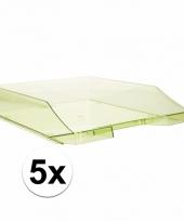 Transparant groene documentenbak a4 5 stuks