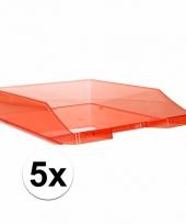 Transparant rode documentenbak a4 5 x