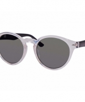 Transparante dames zonnebril ronde glazen model 7002