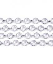 Transparante slinger met kristalletjes