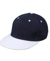 Trendy baseball cap navy wit