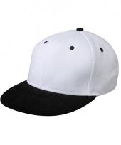 Trendy baseball cap wit zwart