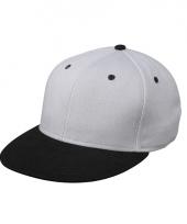 Trendy baseball cap zilver zwart