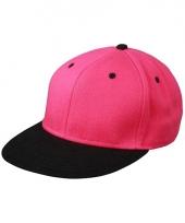 Trendy baseball cap zwart roze