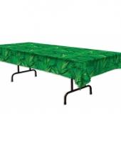 Tropisch tafelkleed groen met palm bladerenpbellen