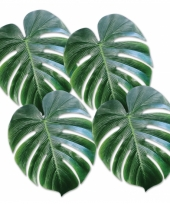 Tropische palmboom bladeren 33 cm