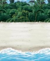 Tropische strand muurversiering 12 2 m