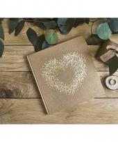 Trouwerij gastenboeken met gouden hart