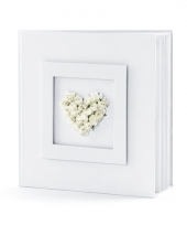 Trouwerij gastenboeken met wit hart