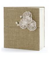 Trouwerij gastenboeken van jute 22 5 cm