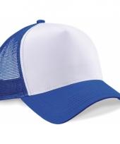 Truckers pet kobaltblauw wit katoen
