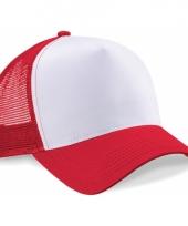 Truckers pet rood wit katoen