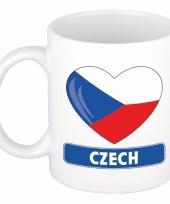 Tsjechische vlag hart mok beker 300 ml