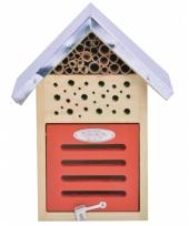 Tuindecoratie lieveheersbeestjes insecten hotel 24 cm