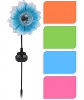 Tuinverlichting blauwe bloem 81 cm