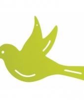 Tuinversiering deco vogel groen 22 cm