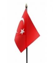 Turkije luxe zwaaivlaggetje polyester