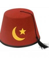 Turks hoedje rood