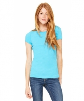Turquoise dames t-shirtjes hanna ronde hals