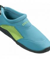 Turquoise groen waterschoenen surfschoenen volwassenen