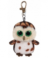 Ty beanie boo sleutelclip uil 12 cm