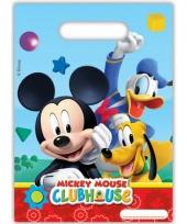 Uitdeelzakjes van mickey mouse 6 stuks