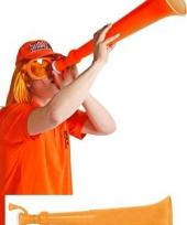 Uitschuifbare oranje toeter