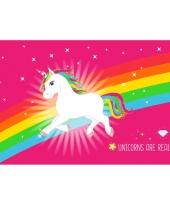 Unicorn placemat roze 44 x 28cm