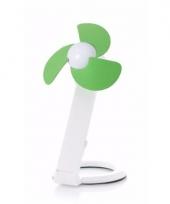 Usb labtop ventilator waaier wit groen 22 cm