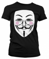 V for vendetta kleding dames t-shirt