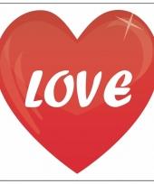 Valentijn sticker love 10 5 cm