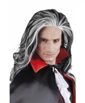 Vampier pruik grijs voor volwassenen