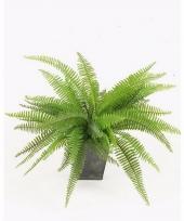 Varen kunstplant 33 cm groen in zinken pot