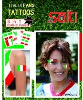 Velletje met italie tattoos 9 stuks