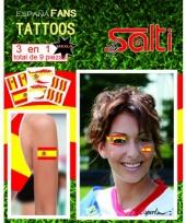 Velletje met spanje tattoos 9 stuks
