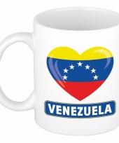 Venezolaanse vlag hart mok beker 300 ml