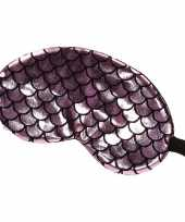 Verduisterend slaapmasker oogmasker met roze zwarte schubben print voor volwassenen