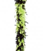 Veren boa lime groen zwart 180 cm
