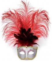 Veren oog masker rood