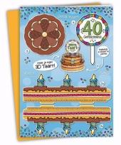 Verjaardag 40 jaar xxl taartkaart