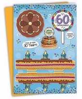 Verjaardag 60 jaar xxl taartkaart