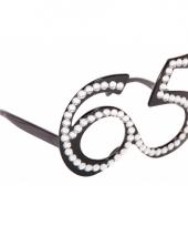 Verjaardag 65 bril zwart