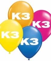 Verjaardag ballon k3 8 stuks