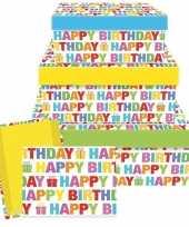 Verjaardag cadeauverpakking happy birthday 17 5 cm