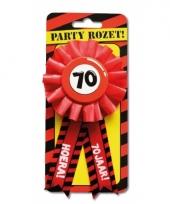 Verjaardag rozet 70 jaar