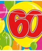 Verjaardag servetten 60 jaar