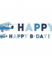 Verjaardag slinger met vliegtuig