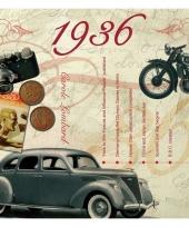 Verjaardagskaart met geboorte jaar 1936