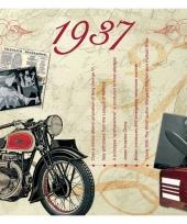 Verjaardagskaart met geboorte jaar 1937