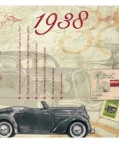Verjaardagskaart met geboorte jaar 1938